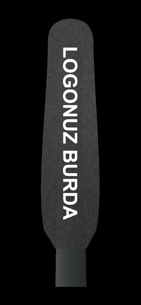 Kamera-Mikrofon-Süngeri büyük logo baskılı