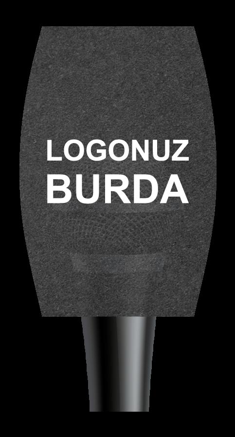 Kare-Mikrofon-Süngeri-logo baskılı kapak