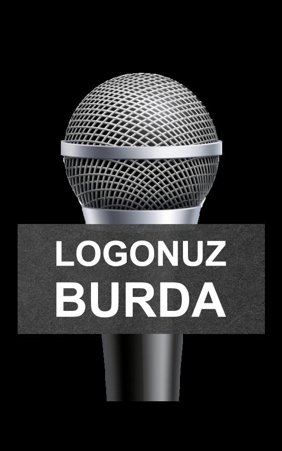 Üçgen-Küp-Mikrofon-Süngeri logo baskılı