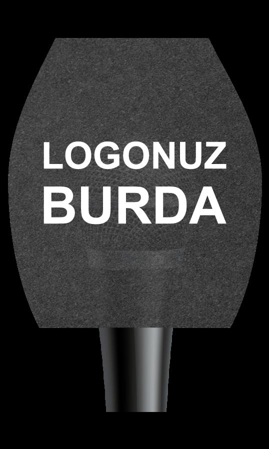 Üçgen-Mikrofon-Süngeri-logo baskılı